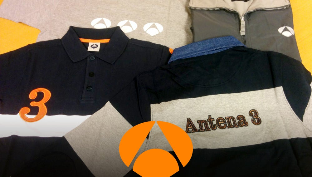 Camisetas, polos y chubasqueros de Antena 3