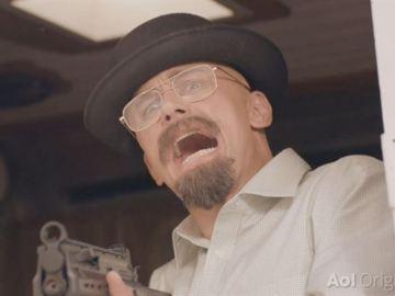 James Franco caracterizado como Walter White