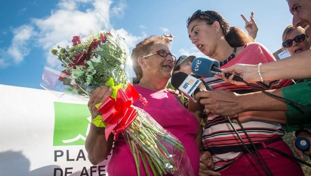La abuela Josefa, a su salida de prisión