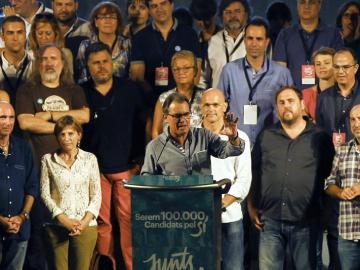 Artur Mas participa en el acto convocado por Junts pel Sí