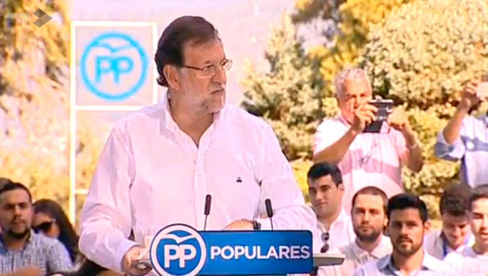 Rajoy, en el mitin en Soutomaior