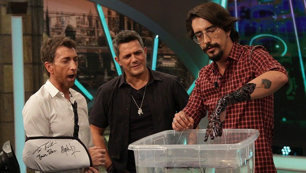 Pablo Motos, Alejandro Sanz y Marron en El Hormiguero 3.0