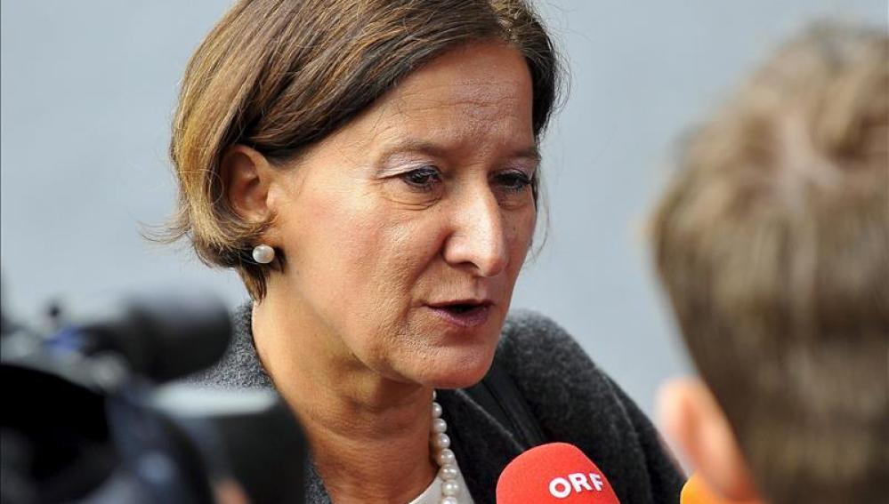 Ministra de Interior de Austria, Johanna Mikl-Leitner