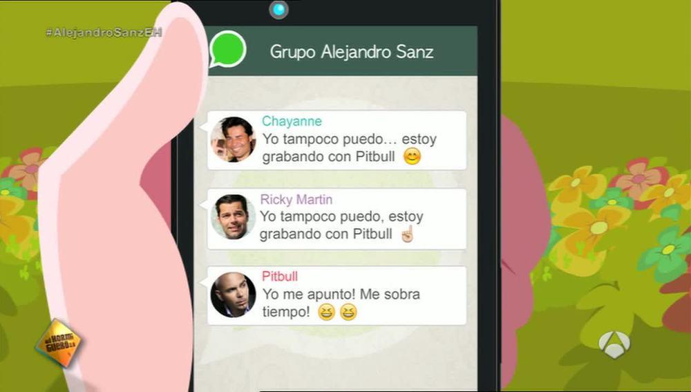 El grupo de whatsapp de Alejandro Sanz