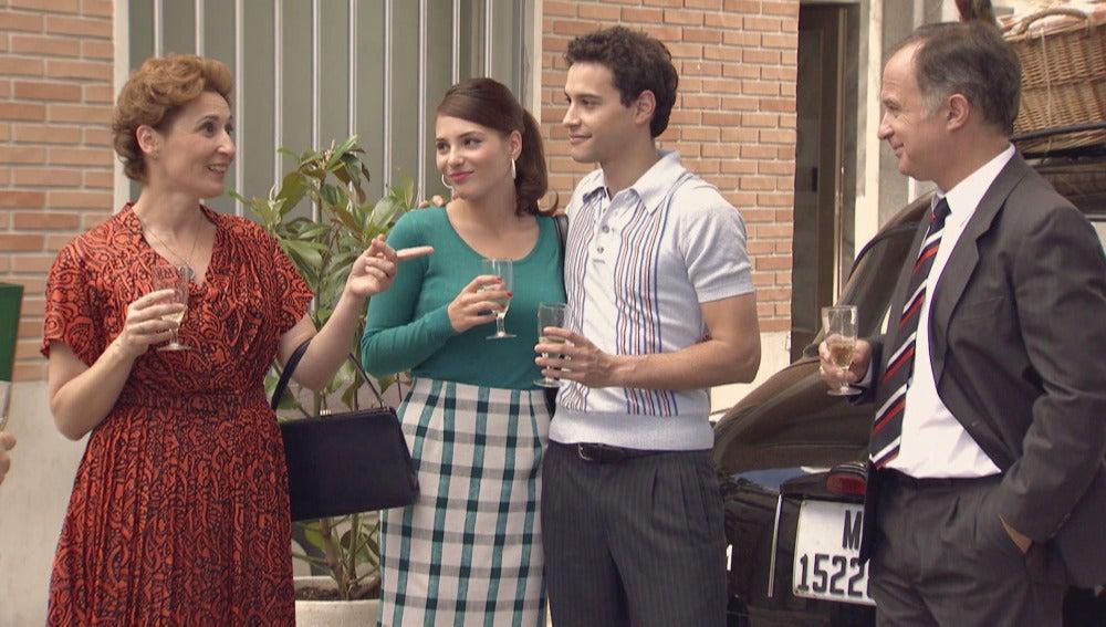 Américo, Lucía, Paco y Serafina