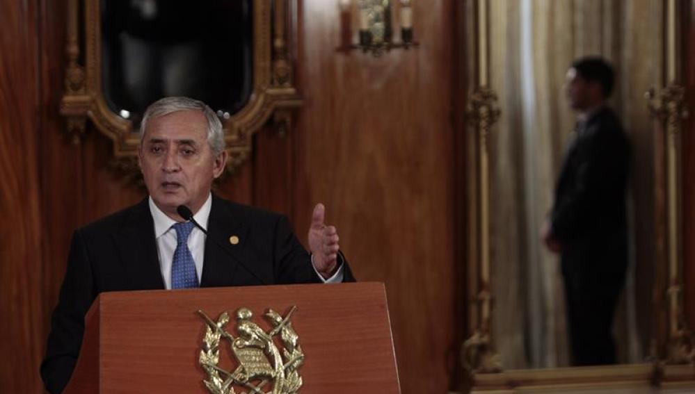 El presidente de Guatemala, Otto Pérez Molina