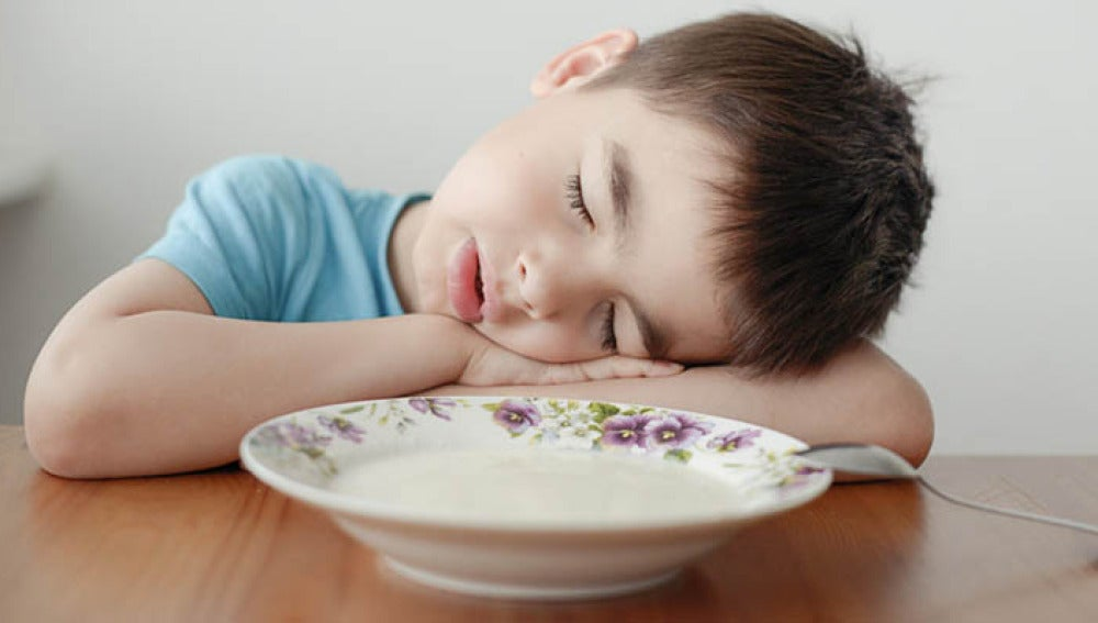 Niño cansado