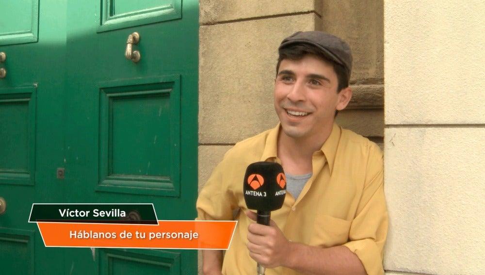 """Víctor Sevilla: """"Siento que este personaje me marcará un antes y un después"""""""