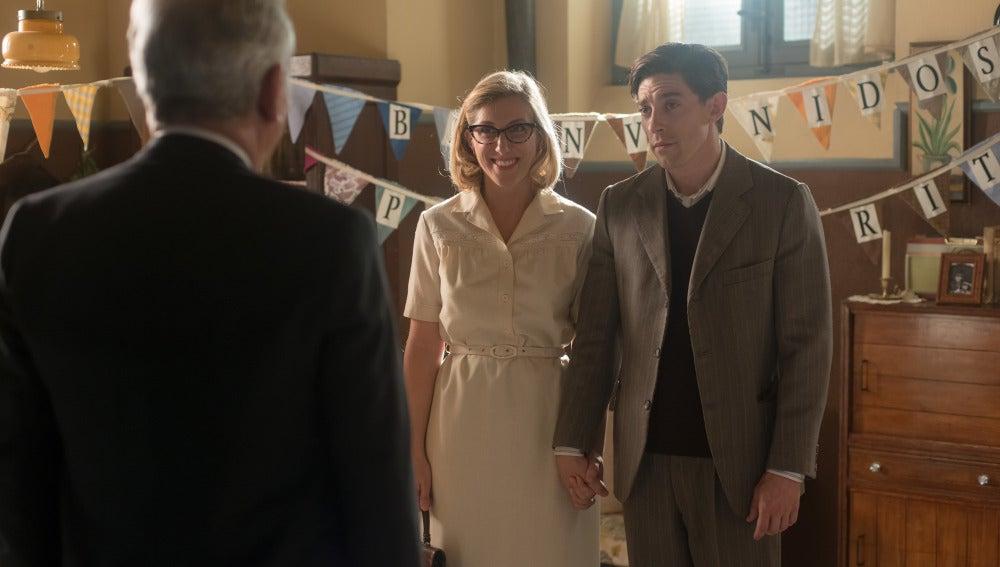 Pedro y Rita recién casados