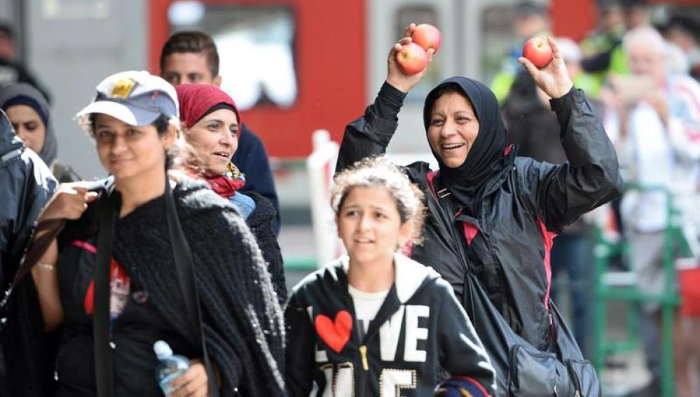 Refugiados sirios llegan a Alemania
