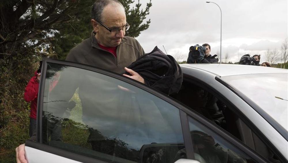 Alberto Plazaola a su salida de prisión