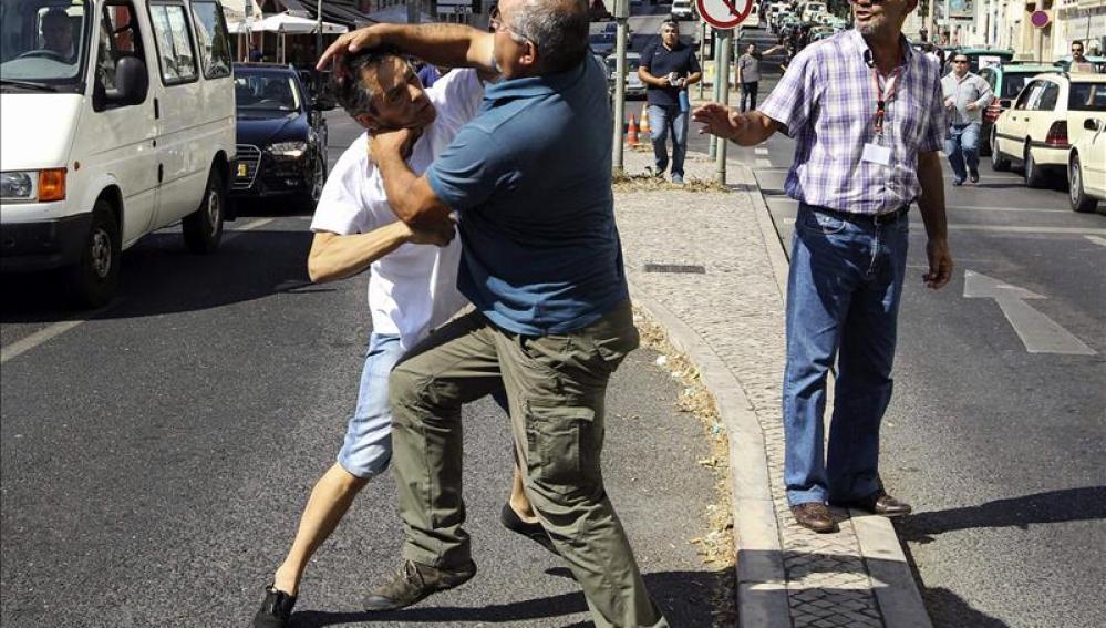 Protestas en Portugal por UBER