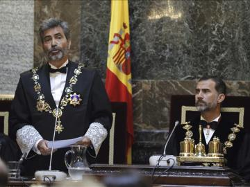 El rey Felipe VI, en la apertura del Año Judicial del pasado año