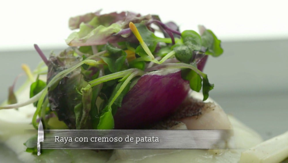 Raya con cremoso de patata
