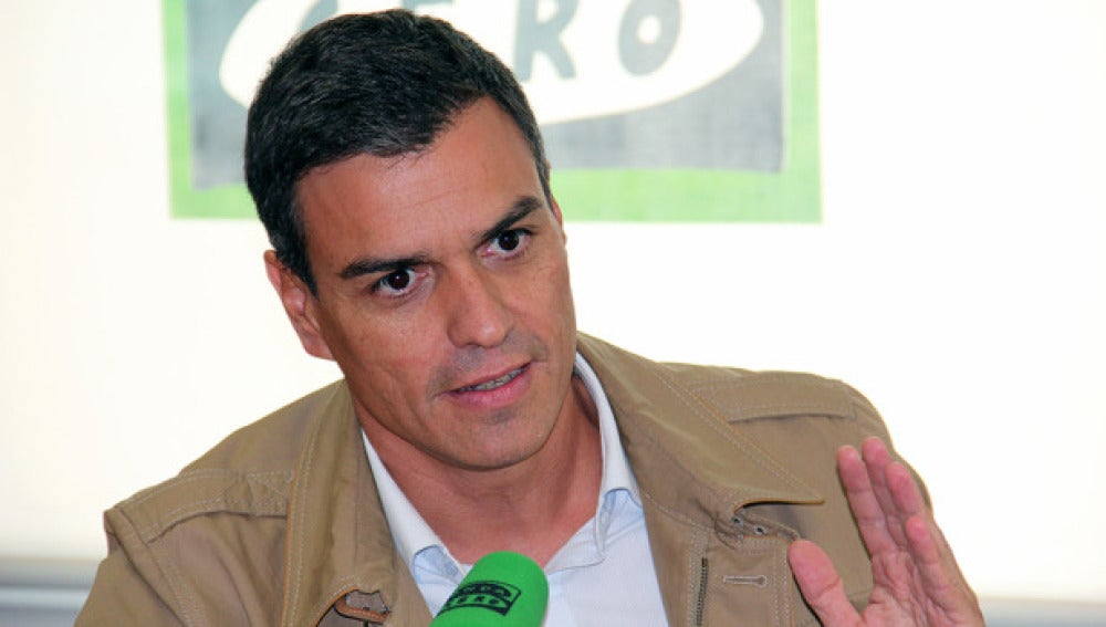 Pedro Sánchez en una entevista en Onda Cero.