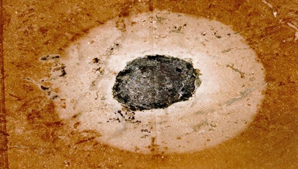 Imagen de los dos impactos de meteorito