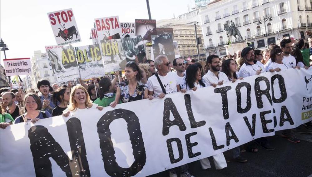 Participantes en la manifestación