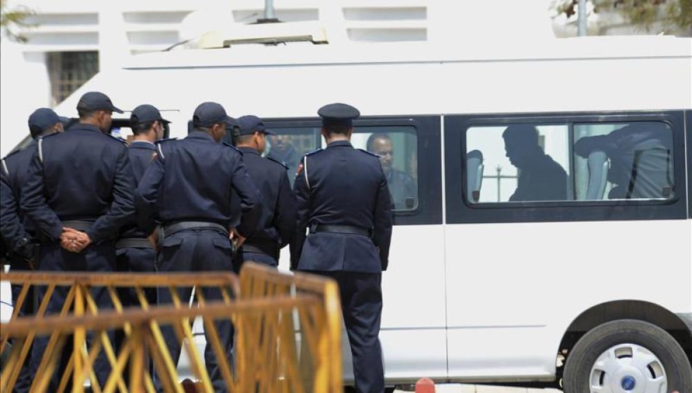 Imagen de policías marroquíes