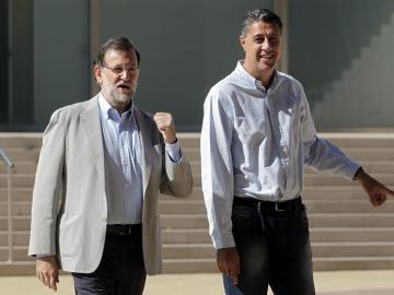 Mariano Rajoy, con Xavier García Albiol
