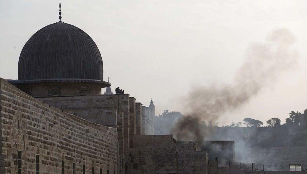 Disturbios en la Explanada de las Mezquitas