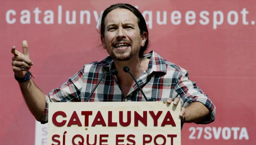 Pablo Ilgesias, líder de Podemos