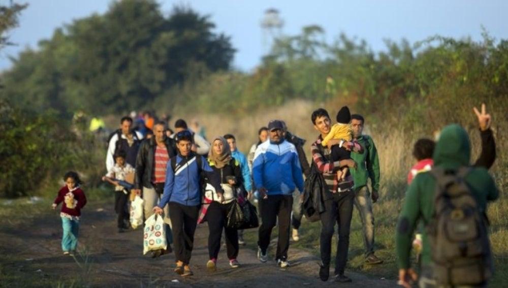 Refugiados camino alemania