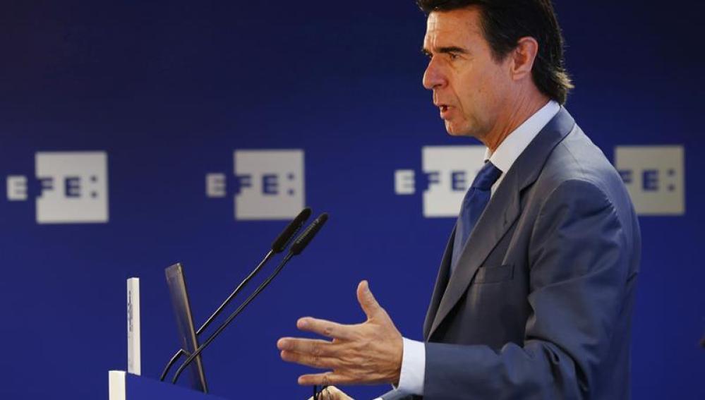José Manuel Soria, durante su intervención en un Foro de Efe.