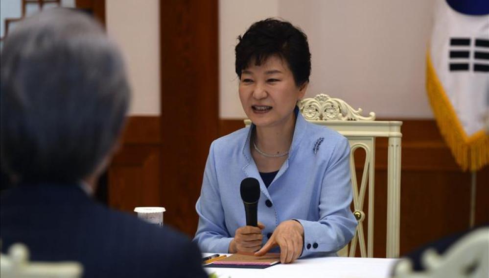 La presidenta surcoreana, Park Geun-Hye en Seúl (Corea del Sur).