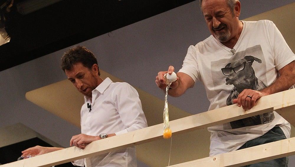 Karlos Arguiñano y Pablo Motos en El Hormiguero 3.0