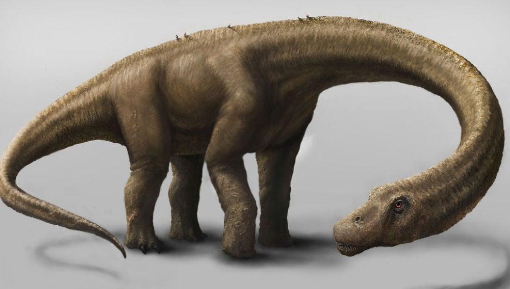 Reconstrucción del titanosaurio