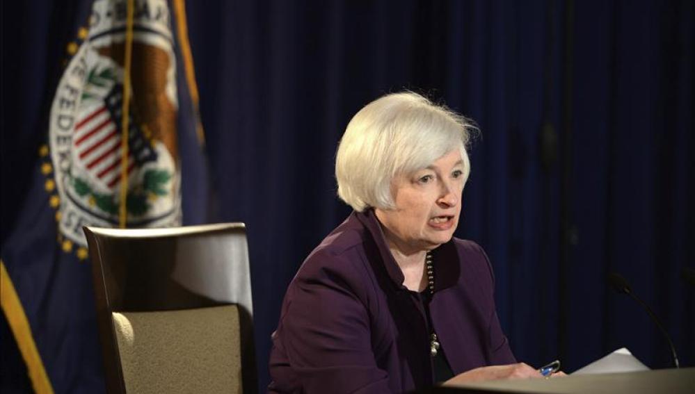 La presidenta de la Reserva Federal