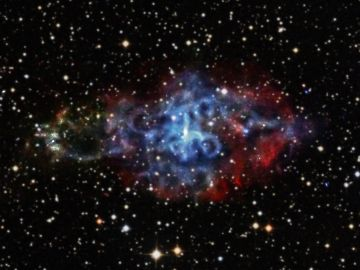 Imagen de una estrella de neutrones captada por el telescopio Chandra de la NASA