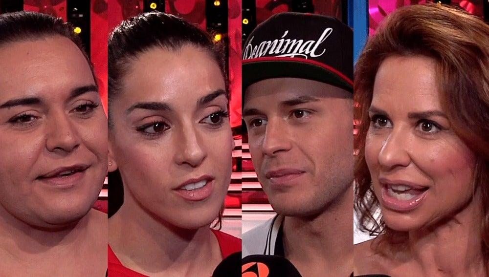 Falete, Shaila, Adrián y Vicky