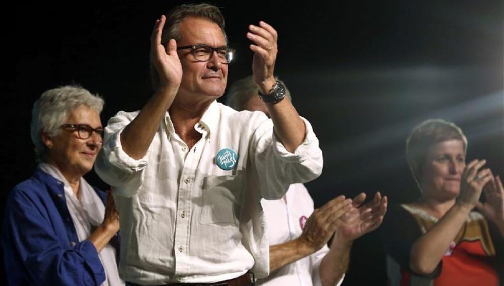 Artur Mas durante el acto público