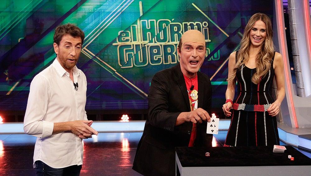 Manolo Sarriá, Pablo Motos y Vanesa Romero en El Hormiguero 3.0