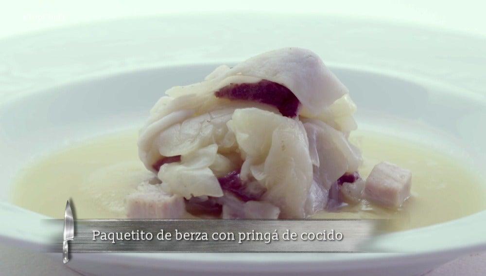 Cocido madrileño con texturas