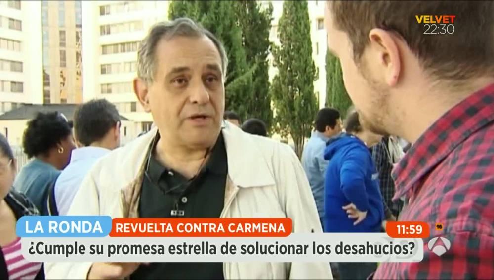 Luis Chamarro, portavoz en Madrid de la PAH
