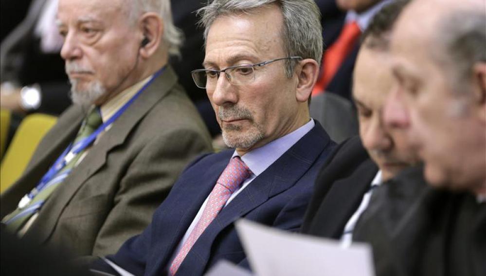 El expresidente de Fórum Filatélico, Francisco Briones, durante el juicio en Madrid