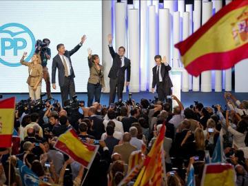 Cospedal, Albiol, Camacho, Rajoy y Sarkozy
