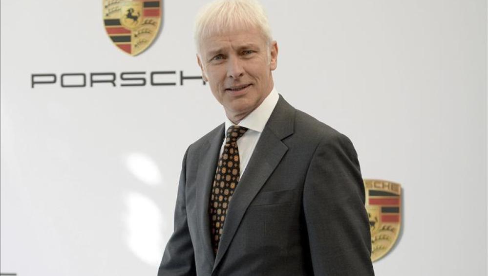 El presidente y consejero delegado de Porsche, Matthias Müller