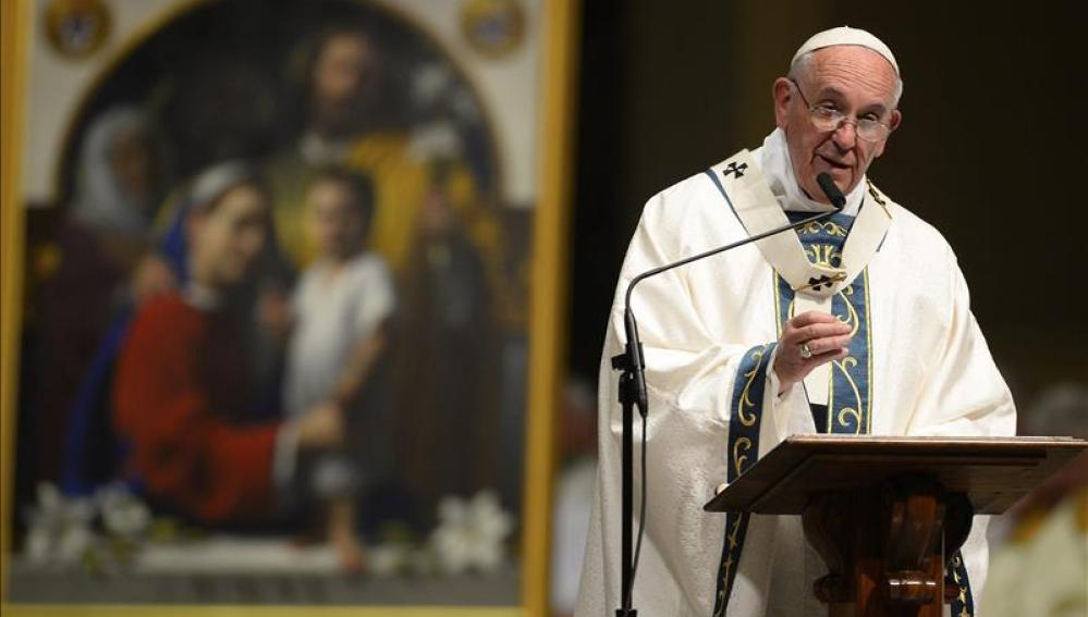 El papa Francisco, durante una misa en Filadelfia