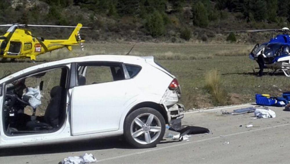 Accidente de tráfico este domingo en Salvacañete (Cuenca)