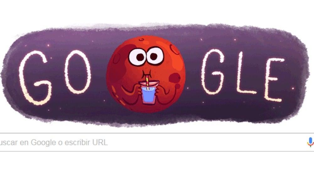 Google homenajea a Marte
