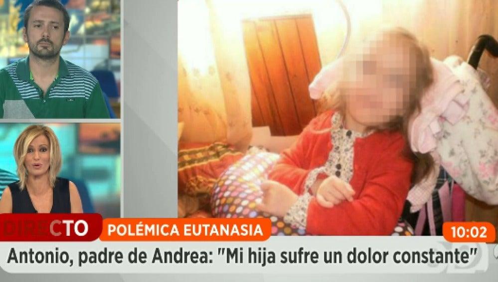 Los padres de Andrea piden una muerte digna para su hija