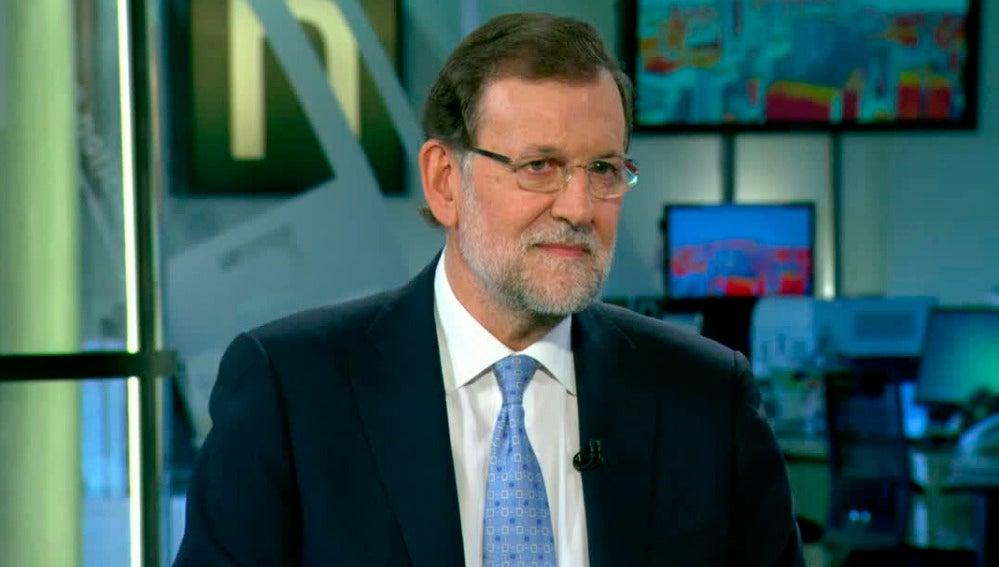 Mariano Rajoy entrevistado en Antena 3