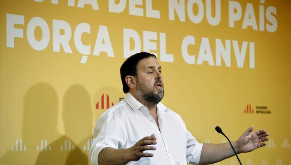 Oriol Junqueras en el primer Consejo Nacional de ERC tras el 27-S