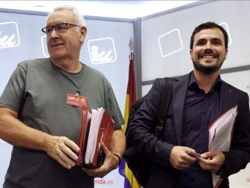 El candidato a la presidencia del Gobierno, Alberto Garzón