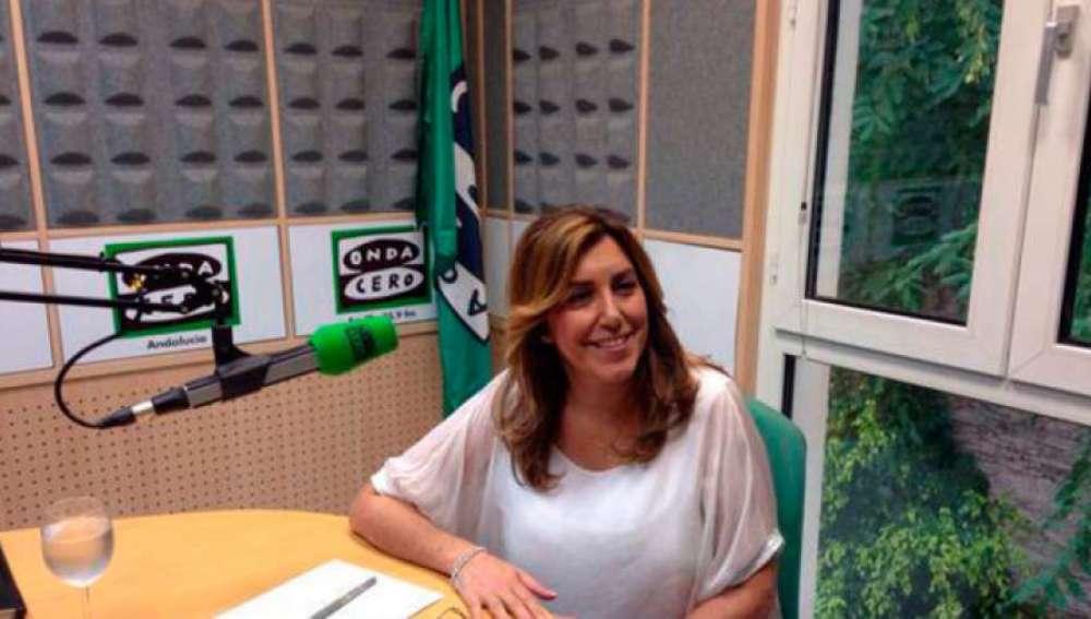 La  presidenta andaluza, Susana Díaz, en los estudios de Onda Cero.