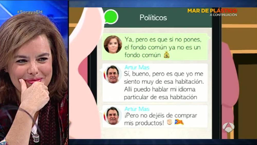 El grupo de whatsapp de los políticos españoles