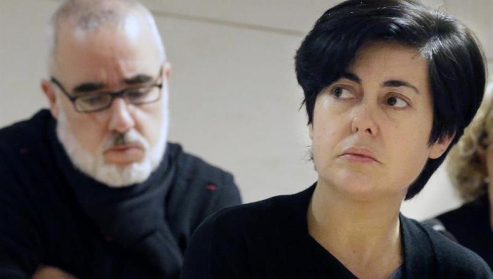 Rosario Porto y Alfonso Basterra en el juicio por la muerte de su hija.